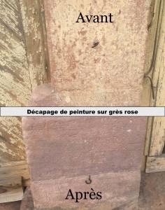 decapage pierre en grès